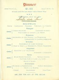 the american menu the café martin