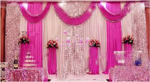 Pink And Teal Curtains Decorating 2018 Style 10ft 20ft Fuchsia Wedding Backdrop With Sequin