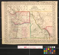 Map Of Idaho Cities Map Of Oregon Washington Idaho And Part Of Montana The