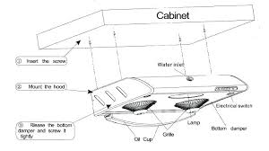 how to install a range hood under cabinet gas range hood installation height how to install filter information