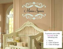 Personalized Nursery Wall Decals Baby Monogram Wall Decor Personalized Wall Decal Branch Wall
