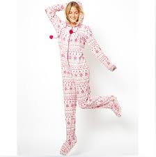 onesies footed pajamas hooded footed autumn winter