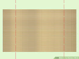 How To Shorten Window Blinds How To Cut Bamboo Blinds 5 Steps With Pictures Wikihow
