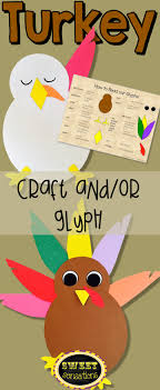 turkey craft and glyph hats simple math and turkey time