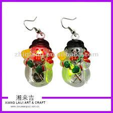 light up christmas earrings christmas snowman led flashing earrings buy snowman light up