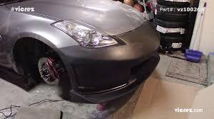 nissan 350z front lip siegestyle test fitting vicrez nissan 350z n3 r front bumper