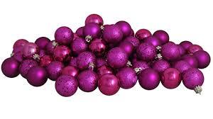 32ct pink magenta shatterproof 4 finish ornaments