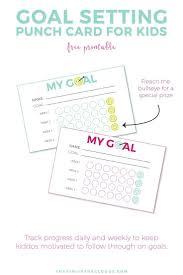 How To Make Punch Cards - best 25 goal setting worksheet ideas on pinterest goals