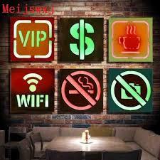 aliexpress com buy meijswxj vintage home decor lightbox led neon