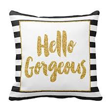 drop shipping home decor prevalent 2017 cute gold glitter stripes square throw pillow case