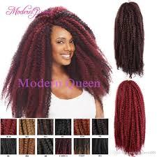 color 99j in marley hair 2018 cheap hot sale 18inch 100g afro kinky twist hair crochet