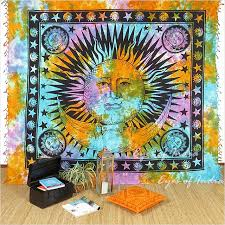 Sun And Moon Bedding Boho Bedding Bedspreads Boho Throws Eyes Of India