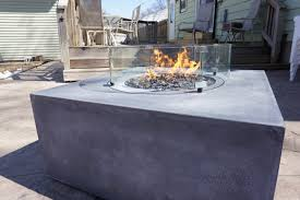 Concrete Fire Pit by Portfolio Concrete Fire Pits Ageless Concrete