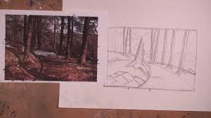 how to start a landscape sketch youtube