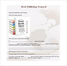 book proposal template u2013 12 free sample example format download