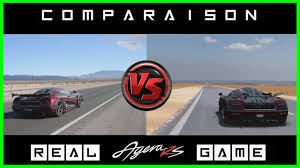 koenigsegg agera xs top speed koenigsegg agera rs top speed real vs game youtube
