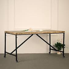 Industrial Table L Ikayaa Antique Kitchen Dining Table Metal Meeting Table