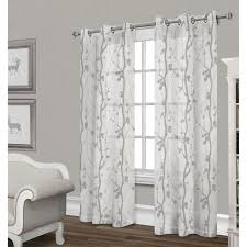 Sheer Gray Curtains Corfu Sheer Curtain Panel Dove Gray 84 In At Home At Home