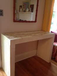 build a console table build console table the photo collection of diy wood table showed