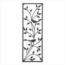 songbird decorative metal wall decor panel floral every