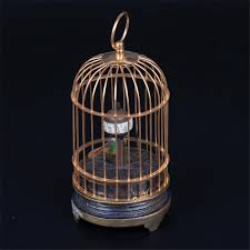 Cool Desk Clock by Lot 0254 Interesting Desk Clock In The Shape Of A Bird Cage