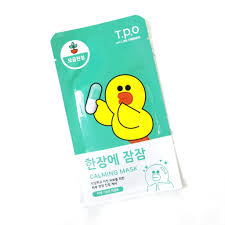 review t p o with line friends calming mask sheet
