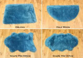 Washable Sheepskin Rug Blue Faux Fur Rug Creative Rugs Decoration