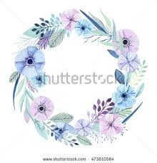 flower wreath vector flower wreath floral elements stock vector
