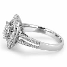 halo split shank engagement ring jean jewelers