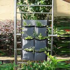 online shop 6 pocket felt wall mounted planters vase outdoor