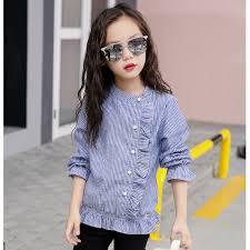 beautiful blouses ruffles sleeve blouse autumn cotton