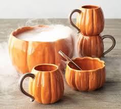pumpkin serving bowl pottery barn halloween collection 2017
