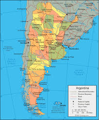 physical map of argentina argentina map and satellite image