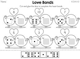 valentine u0027s day kindergarten math worksheets kindergarten math
