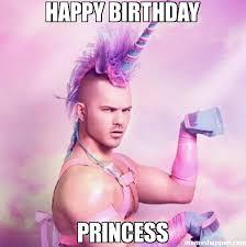 Birthday Princess Meme - happy birthday princess meme unicorn man 26284 memeshappen