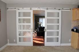 Barn Doors For Homes Interior Frosted Glass Sliding Barn Door Door Design