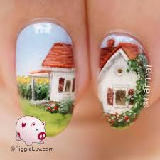piggieluv summer in the countryside nail art