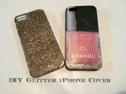 diy gold glitter iphone case easy youtube