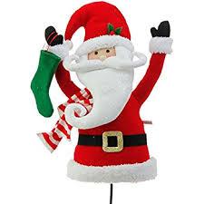 Santa Claus Christmas Tree Decorations by Amazon Com Plush Reindeer Pick Accent Christmas Tree