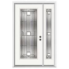 full glass entry door stanley doors 36 in x 80 in art deco 3 4 lite 1 panel painted