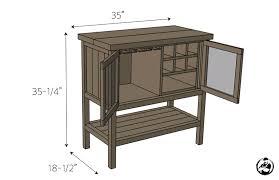 Diy Bar Cabinet Diy Bar Plans