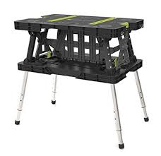 keter folding work table ex keter 17200954 folding work table ex with extendable legs and 2 c