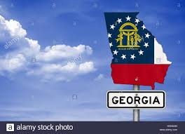 Georgia State Map by Georgia State Road Sign Map Stock Photo Royalty Free Image