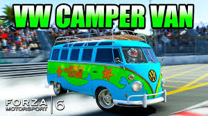 volkswagen hippie van name forza 6 custom cars vw camper van the mystery machine 3 youtube