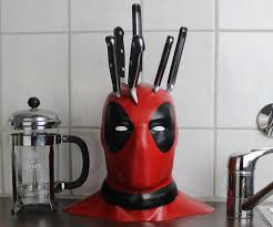 Cool Kitchen Knives Kitchen Deadpool Knife Block With Cool Kitchen Knife Set Also