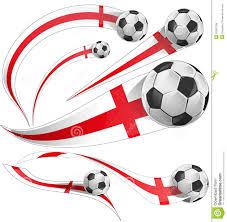 england flag with soccer ball stock vector image 52961799
