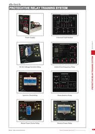 db 607 protective relay training system relay protection system