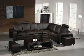 Modern Leather Sectional Sofa Ev 3330 Modern Espresso Leather Sectional Sofa