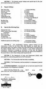 list 2018 regular and special non working holidays inquirer news