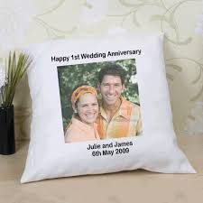 wedding gift experience ideas personalised anniversary photo cushion the gift experience
